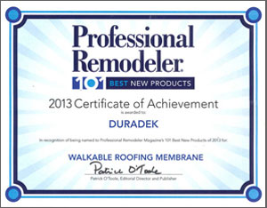 Duradek is the industry standard.